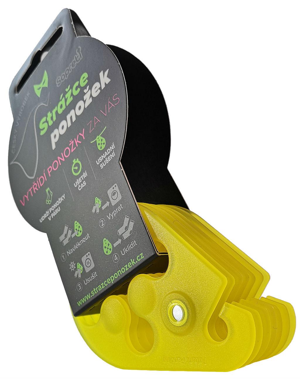 Strážce ponožek - žlutá