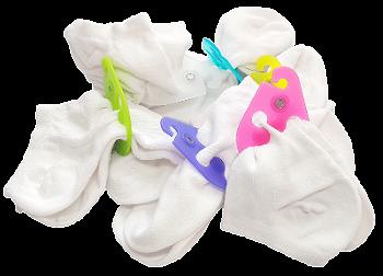 Strážce ponožek drží ponožky v páru